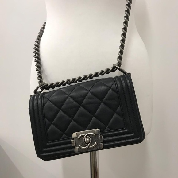 55a2e236783a0f CHANEL Handbags - Chanel Small Le Boy Bag Lambskin.PRICE IS FIRM❌